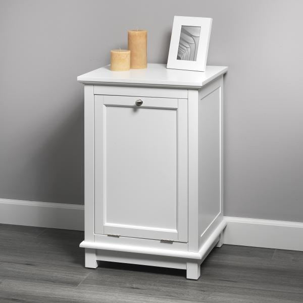 Bath Storage - Hamper with Quick Snap - White Finish
