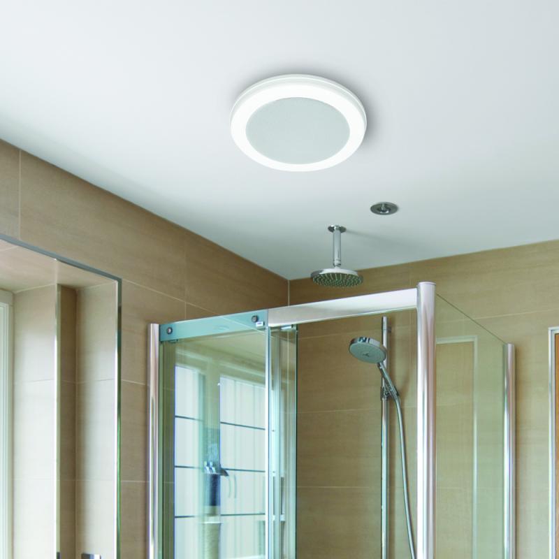 Bath Fan With Bluetooth Speaker Led, Bathroom Exhaust Fan With Light And Nightlight
